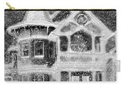Victorian Christmas Black And White Carry-all Pouch