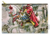 Victorian Christmas Card Depicting Saint Nicholas Carry-all Pouch