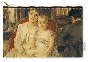 Victorian Family Scene Carry-all Pouch by Alfred Emile Stevens