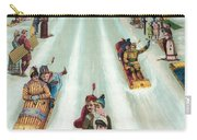 Victorian Poster Of Night Sledding Carry-all Pouch