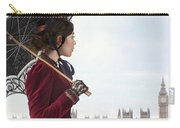 victorian woman with parasol in 19th century London  Carry-all Pouch