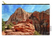 View From Canyon Overlook In Zion National Park Carry-all Pouch