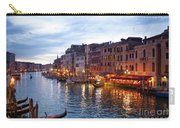 View From Rialto Bridge Of Venice By Night. Carry-all Pouch