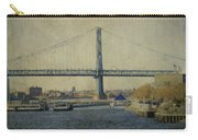 View From The Battleship Carry-all Pouch by Trish Tritz