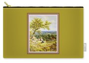 View From The Hill On The Village Below. P B With Decorative Ornate Printed Frame. Carry-all Pouch