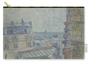 View From Theo S Apartment Paris, March - April 1887 Vincent Van Gogh 1853  1890 Carry-all Pouch