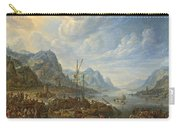View Of A River With Boat Moorings Carry-all Pouch