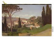 View Of A Villa Carry-all Pouch by Jean Achille Benouville