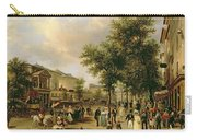 View Of Boulevard Montmartre Carry-all Pouch by Guiseppe Canella