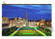 View Of Brussels From Jardin Du Mont Des Arts Carry-all Pouch by Barry O Carroll