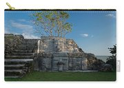 View Of Cerros Maya Ruins At Cerros Carry-all Pouch