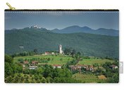View Of Church Of The Holy Cross In Kojsko And Sveta Goro Holy M Carry-all Pouch