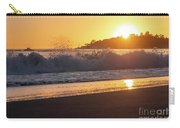 View Of Large Fishing Boat From The Beach At Sunset Carry-all Pouch