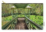 View Of Lily Pads From Gazebo By Kaye Menner Carry-all Pouch