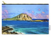 View Of Makapuu And Rabbit Island Carry-all Pouch