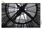 View Of Montmartre Through The Clock At Museum Orsay.paris Carry-all Pouch