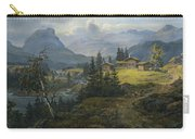 View Of Oylo Farm, Valdres Carry-all Pouch