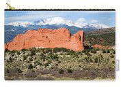 View Of Pikes Peak And Garden Of The Gods Park In Colorado Springs In Th Carry-all Pouch