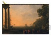 View Of Seaport Carry-all Pouch by Claude Lorrain