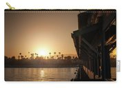 View Of Setting Sun Over Santa Barbara, Ca Carry-all Pouch