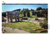 View Of The Arch Of Constantine From The Colosseum Carry-all Pouch