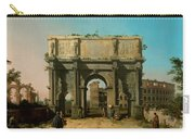 View Of The Arch Of Constantine With The Colosseum Carry-all Pouch