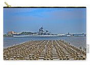 View Of The Battleship New Jersey From Philadelphia Carry-all Pouch