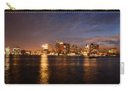 View Of The Boston Waterfront At Night Carry-all Pouch