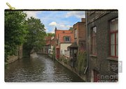 View Of The Canal From Maria Brug On Katelijnestraat In Bruges Carry-all Pouch