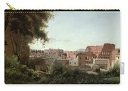 View Of The Colosseum From The Farnese Gardens Carry-all Pouch by Jean Baptiste Camille Corot