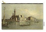 View Of The Isola Di San Michele In Venice Carry-all Pouch
