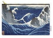 View Of The Naruto Whirlpools At Awa Carry-all Pouch by Hiroshige
