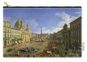 View Of The Piazza Navona Carry-all Pouch