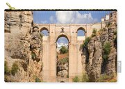 View Of The Tajo De Ronda And The Puente Nuevo Bridge From Across The Valley Carry-all Pouch