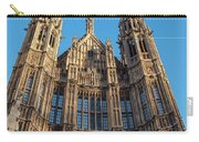 View Of The Top Detail Of The Parlament House In London Carry-all Pouch