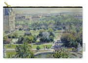 View Of The Tuileries Gardens Carry-all Pouch by Claude Monet