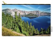 View Of Wizard Island Crater Lake Carry-all Pouch