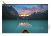 Viewing Snowy Mountain In Rising Sun From A Canoe Carry-all Pouch