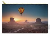 Viewing Sunrise At Monument Valley Carry-all Pouch