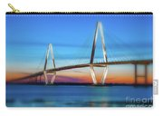 Vignette Blur Of The Cooper River Bridge Carry-all Pouch