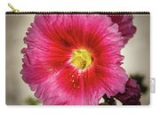 Vignetted Hollyhock Carry-all Pouch