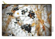 Vignettes - Indigo Winter Berries Carry-all Pouch