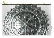 Viking Vegvisir Rune Calendar Sterling Silver Pendant Carry-all Pouch