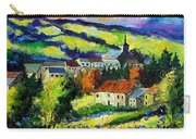 Village And Blue Poppies  Carry-all Pouch