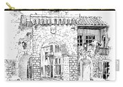 Village Gate In Old Le Thor France Carry-all Pouch