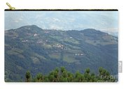 Village On Mountain Rural Landscape  Carry-all Pouch