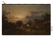 Village Scene Sunset 1870 Carry-all Pouch