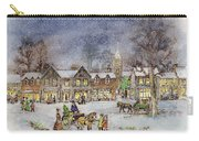 Village Street In The Snow Carry-all Pouch by Stanley Cooke
