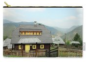 Village With Wooden Houses On Mountain Carry-all Pouch