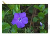 Vinca Blooming In The Forest Carry-all Pouch